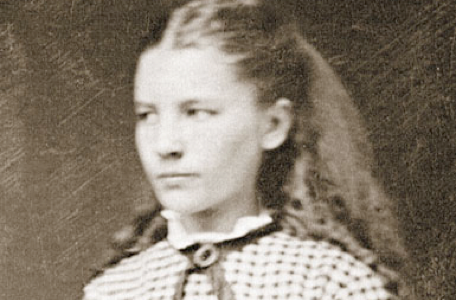 Laura Ingalls Wilder, author of Little House on the Prairie, as a girl